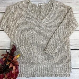 RD STYLE - V-Neck Tunic Knit Sweater - Med